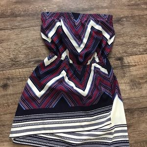 Express strapless silky dress